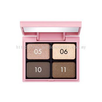 Koji Dolly Wink Custom Shadow Palette - Brown Make Up 4 Shadow (Free Eye Shadow Pallet)