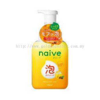 Naive Foaming Body Wash Jumbo ( Moist - Honey Scent ) 500mL