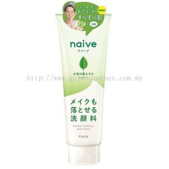 Kracie Naive Makeup Removal Face Wash 200g - Green Tea
