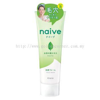 Kracie Naive Face Wash 130g - Green Tea