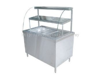 "Bain Marie with ""D"" Shape Showcase"