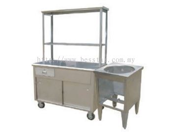Mee Stall 1 Tier with Boiler Stand