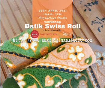 Batik Cream Cheese Swiss Roll Workshop