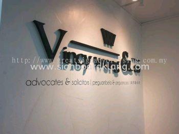 Vincy Wong & Co 3D Box Up Lettering Office Signage at Botanic Bukit Tinggi Klang