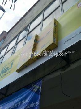 IK Yellow 3D Acrylic LED Box Up Lettering