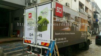 SCI Subang Jaya truck lorry inkjet UV sticker