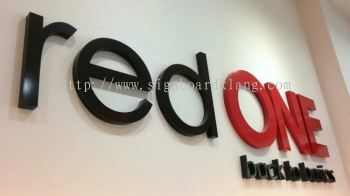 Red One Network HQ Acrylic 3D lettering- install at puchong