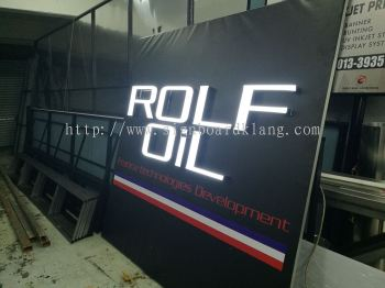 Rolf Oil LED Billboard at sugai buloh
