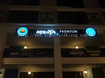 Mizuya Japanese Food LED Conceal Signboard at The Lamark bukit tinggi