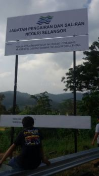 Project Construction Sign At Sugai Buloh