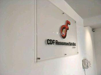 CDF Resources Sdn Bhd 3D Acrylic Poster signage at klang