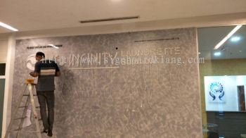 Infinity Laundrette Solution 3D LED conceal signage at Viva home Kuala Lumpur