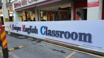 Unique English Class 3D LED conceal  Box up lettering signboard at Puchong  setia Walk