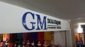 GM Boutique Fashion House 3D acrylics Signage at Alam Center Shah Alam