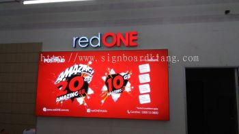 Red One network sdn bhd 3D Channel LED Box up Signage at Pj Kl