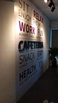 Molpay 3D Box up lettering Signage with inkjet wallpaper printing in I-city shah alam