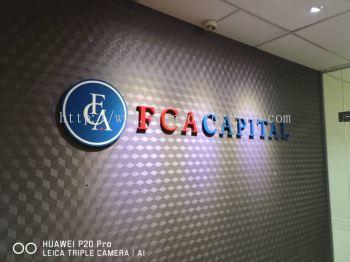 FCA Capital 3D pvc box up lettering at kuala Lumpur