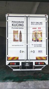 Pet Shop Sdn Bhd 10tun truck lorry Uv Sticker at teluk intan klang