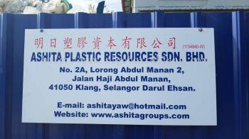 Ashita plastic resources Sdn bhd Metai G.I signboard at meru klang