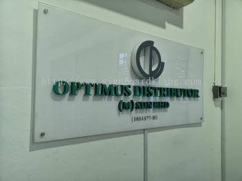 Optimus distributor (M) sdn bhd 3D LED Front lit Signage at Kota kemuning Kl