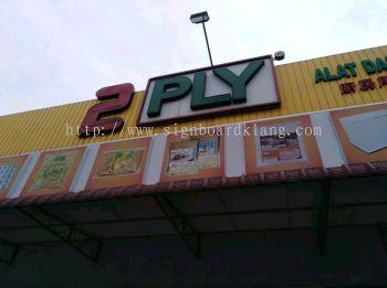 2 PLY market 3D Channel LED lettering Signboard In meru Klang