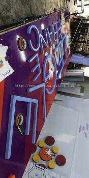 Legle France 3D box up lettering signage in meru klang
