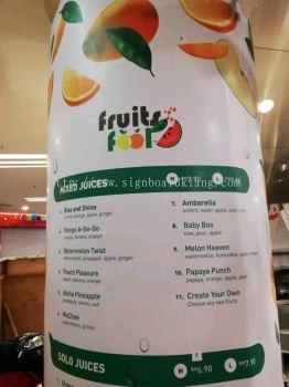 Fruits Fool Inkjet wallpaper printing in 1utama shopping mall damansara Kuala Lumpur