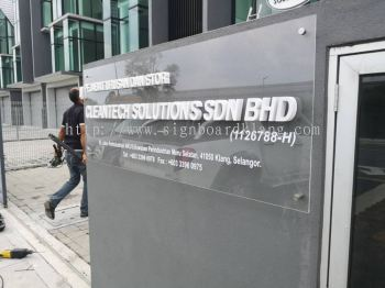 Cleantech Solution Sdn Bhd 3D box up lettering Signboard at meru klang