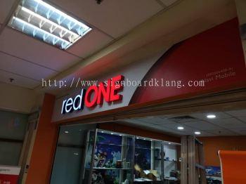red one network Sdn bhd 3D LED frontlit box up lettering at kuchai lama Kuala Lumpur