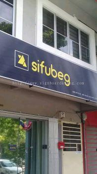 Sifubeg Metal G.i signage at Kota kemuning shah alam