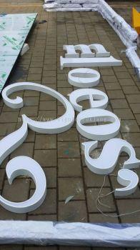 Romeos Studio Barber Shop 3D Led conceal Box Up Lettering Signage