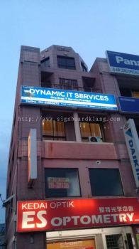 Dynamic it Service Light box Signage At bayu klang