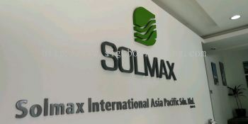 Solmax 3D box up lettering Signage At port Klang