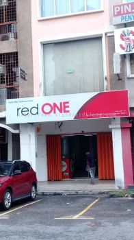 Red One Network Sdn Bhd light box Signboard install at Kuala Lumpur Kl Area
