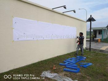 Pos Aviation 3D Eg Box up lettering Sigange At Klia sepang Kuala Lumpur