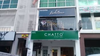 Chatto 3D LED conceal Box up lettering with Light Box at Setapak Kuala Lumpur