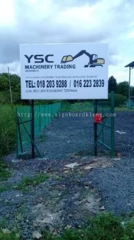 Ysc Machinery Trading Metal G.I signage at jalan Kapar Klang