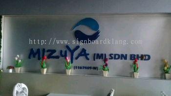 Mizuya (M) Sdn Bhd 3D Box up lettering Signage At Meru Klang