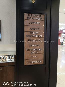 3D stainless steel box up lettering Signage at One Utama shopping mall damansara Kuala Lumpur
