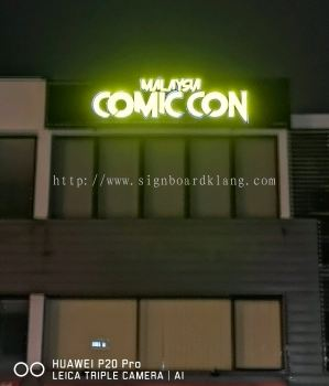 Malaysia Comic Con 3D LED channel Box up lettering signage at setia alam