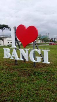 Eg box up 3d lettering I love bangi signage