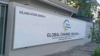 Global Channel Sdn bhd Metal G.I signage at kapar klang