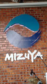 Mizuya Aluminum Box up 3D LED Backlit signage at jalan meru klang
