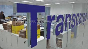 TransCargo logistics acrylic box up lettering signage at Portklang