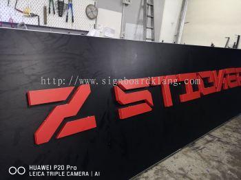 Z- city 3D Led Channel box up lettering sigange at sentosa klang signboard dedign