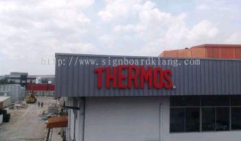 Thermos 3D Eg box up lettering signage at klang / signboard design