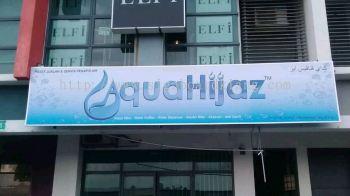 Aqua Hijaz Metal G.i Signage at klang / signboard design