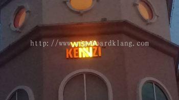 Kennzi 3D LED Conceal Box up frontlit Lettering signage at kota damansara Kuala Lumpur