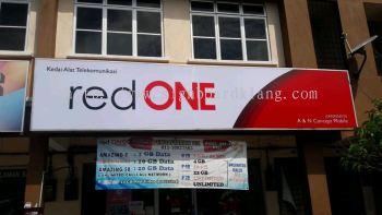 Red One Network Sdn Bhd narmal Light box signboard at Kuala Lumpur kl
