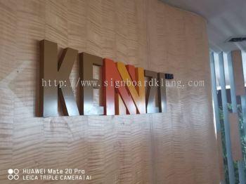 Kennzi 3D Eg Box up lettering sigange at damansara Kuala Lumpur